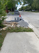 We found sidewalks that end abruptly, leaving no option but to walk on the road.