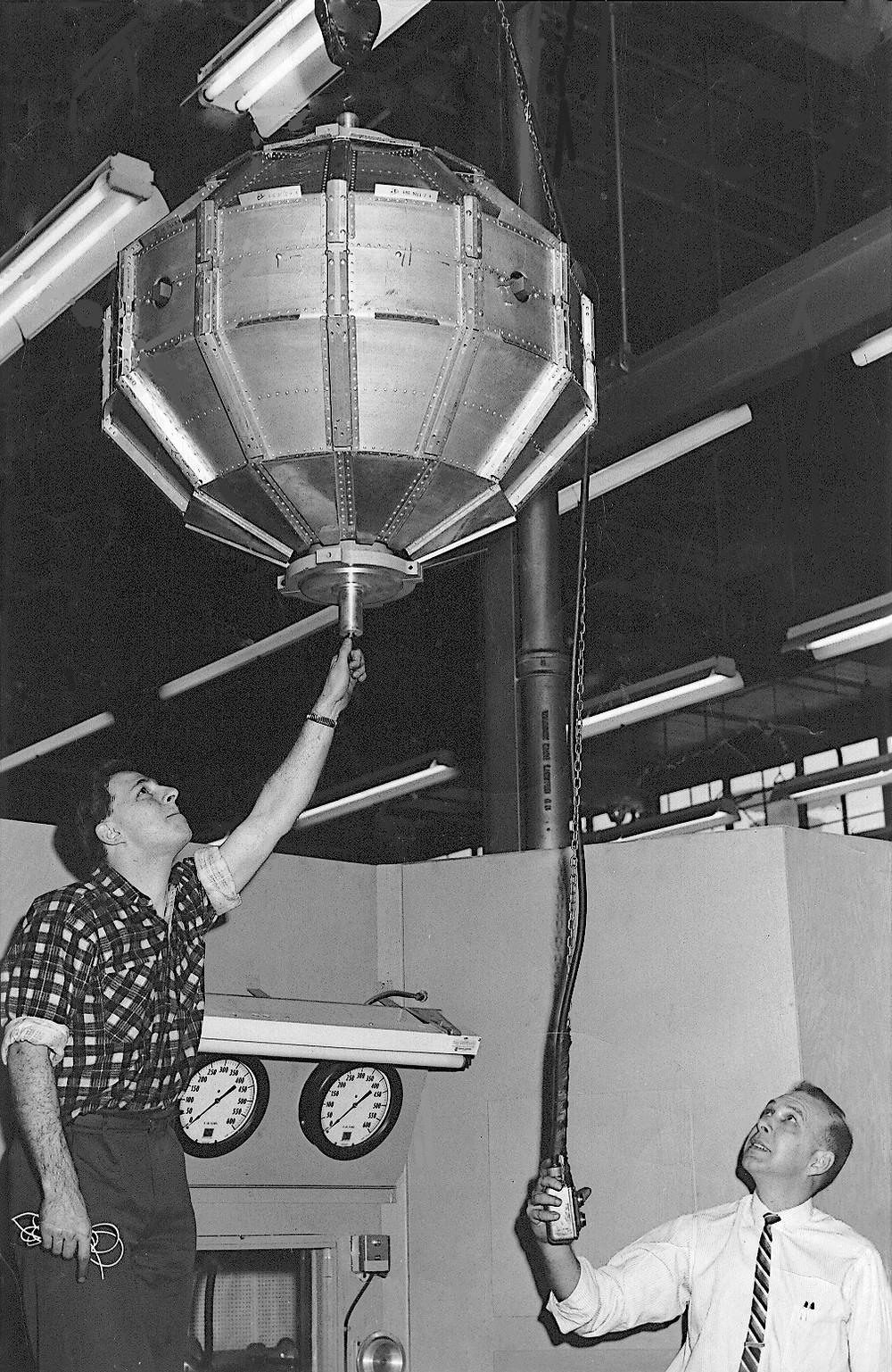 The de Havilland team at work on the Alouette Satellite