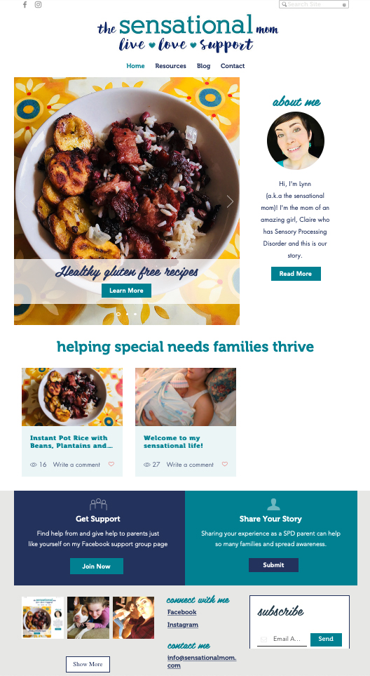 The sensational Mom Website