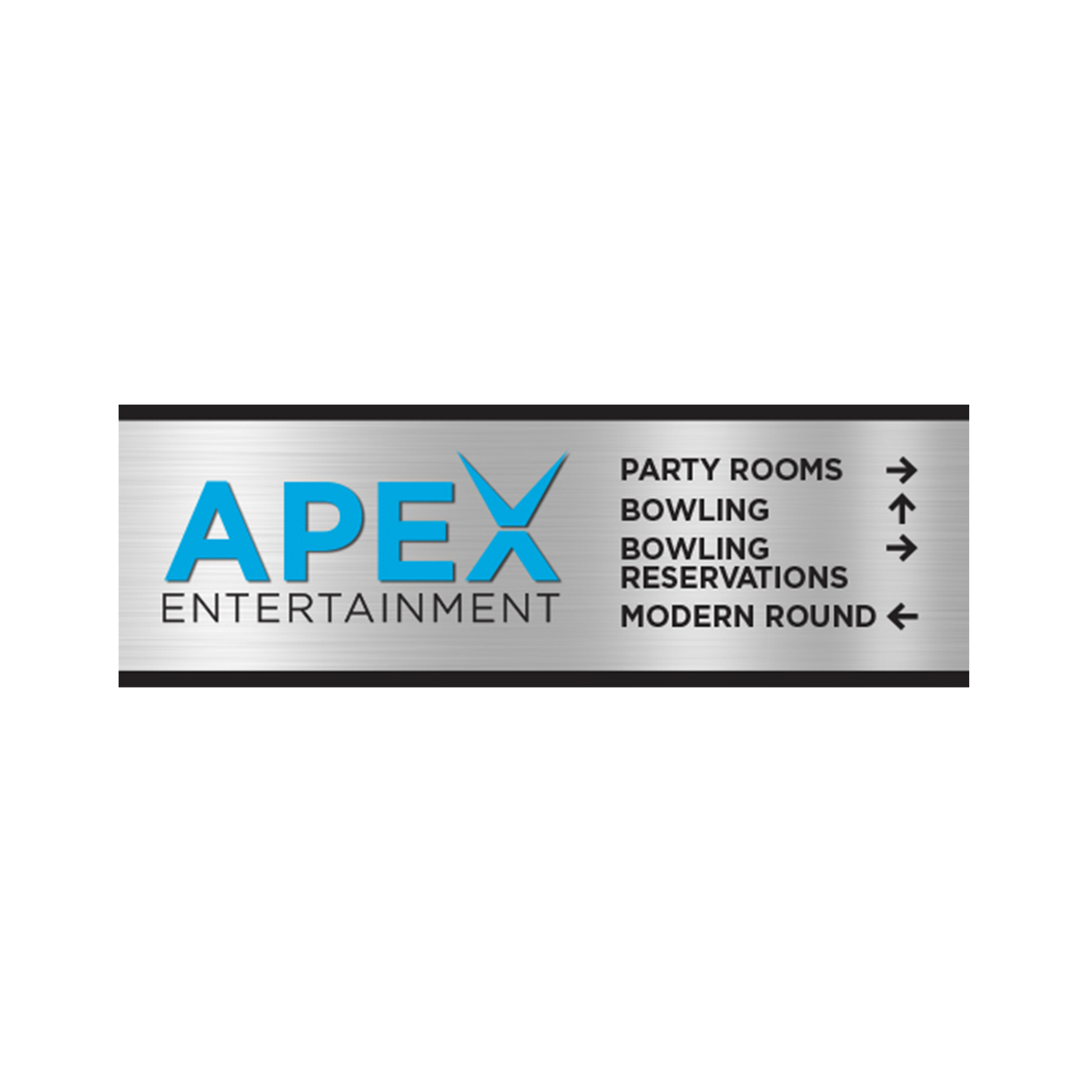 Apex Entertainment Sign