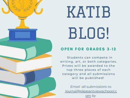 PVS's First Literary Journal: The Katib Blog