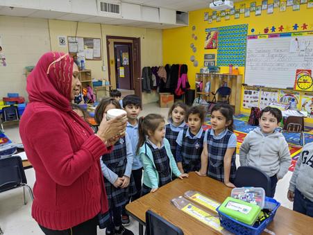 Pre-kindergarten class works on two very fun science activities