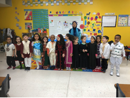 Pre-kindergarten learns about different cultures with a cultural event