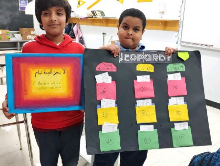 Fourth-graders get creative with their Islamic Studies projects
