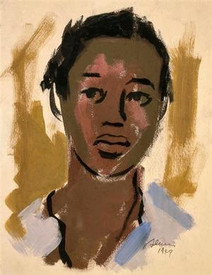 Samella Lewis, 'Field Hand.' Watercolor on paper