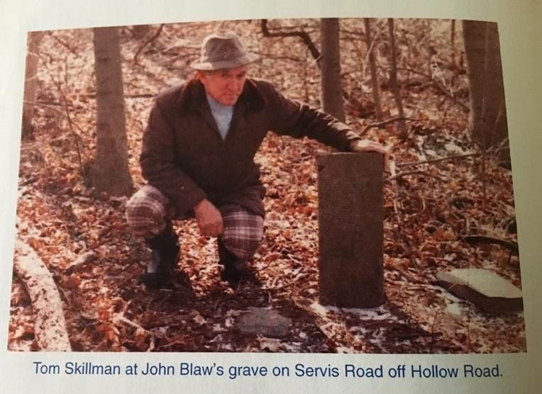 Thomas S. Skillman at John Blaw [d.1777] burial site