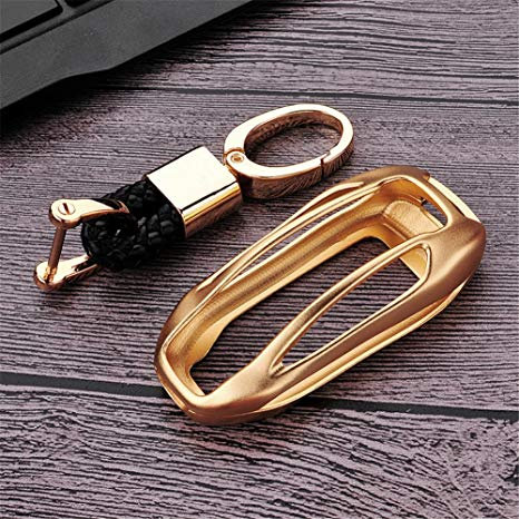 Tesla Model X Aluminum Key Fob Gold