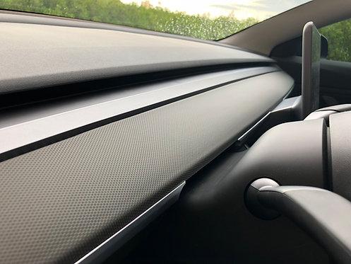 Tesla Model 3 Dash Vinyl Wrap Matrix Black