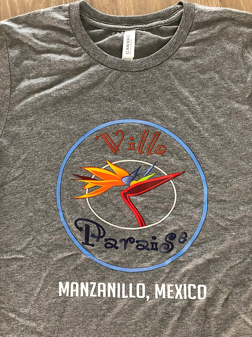 """Villa Paraiso """"Logo only"""" Shirt - Gray"""