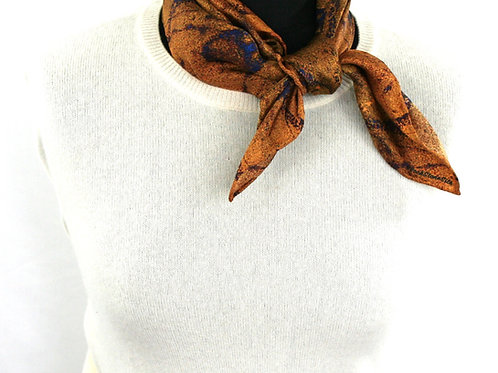 Gold light twill scarf Plankshe Rock Stone Silk