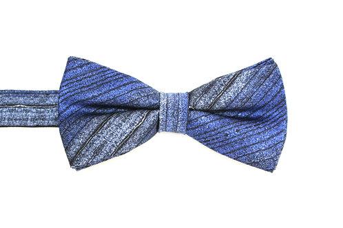 Dark denim silk bow tie Bundlam Rock Stone Silk