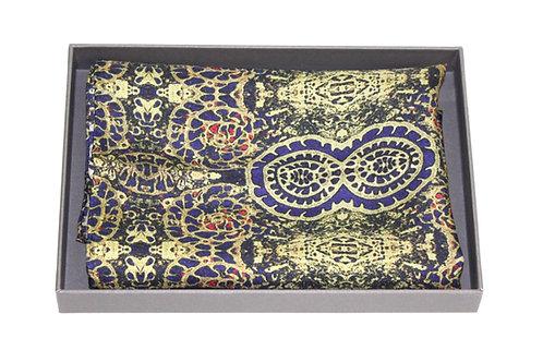 Olive silk pocket square Intraben Rock Stone Silk