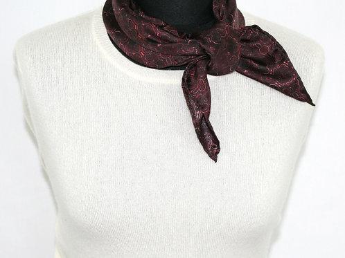 Burgundy light twill scarf Stromat Rock Stone Silk