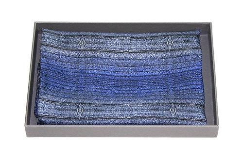 Dark denim silk pocket square Bundlam Rock Stone Silk