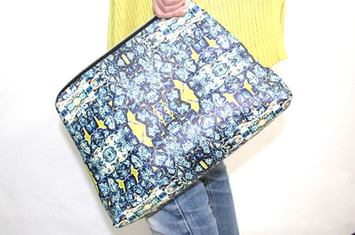 Digitally printed women's handbag in the Bardol range by Rock Stone Silk