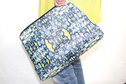 Digitally printed women's handbag in the Bardol range by Rock Stone Silk