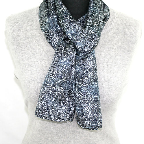 Denim light twill scarf Stromat Rock Stone Silk
