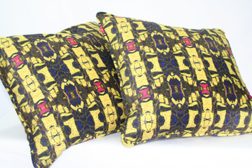 Digitally printed silk and suede cushions in the Brecfra range by Rock Stone Silk