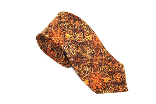 Orange handmade silk tie Stromat Rock Stone Silk