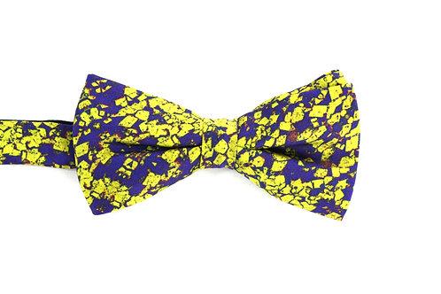 Yellow-blue silk bow tie Dolost Rock Stone Silk