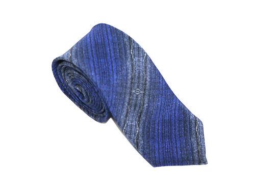 Dark Denim handmade silk tie Bundlam Rock Stone Silk