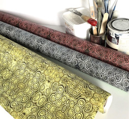 Digitally printed luxury wallpaper in the Stromat range by Rock Stone Silk