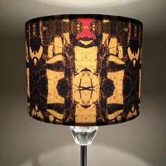 Digitally printed lampshades in the Brecfra range by Rock Stone Silk