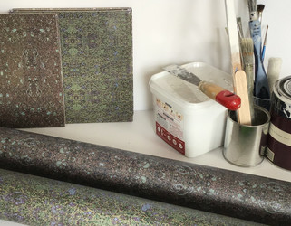 Digitally printed luxury wallpapers and tiles in the Plankfo range by Rock Stone Silk