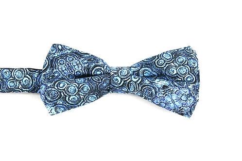 Aqua silk bow tie Stromat Rock Stone Silk