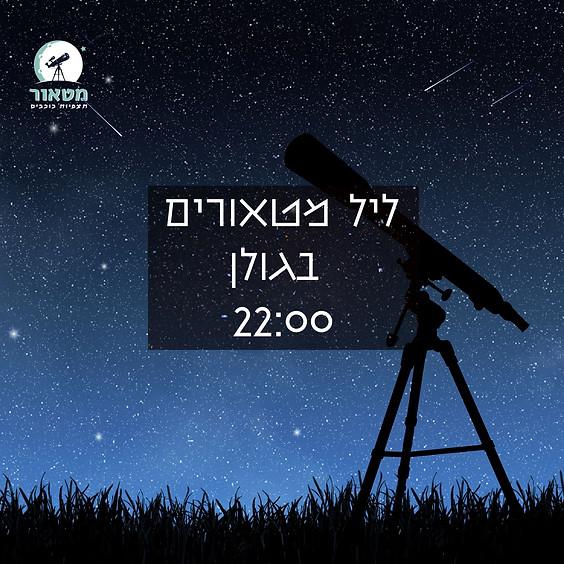 ליל מטאורים בגולן- יום שישי