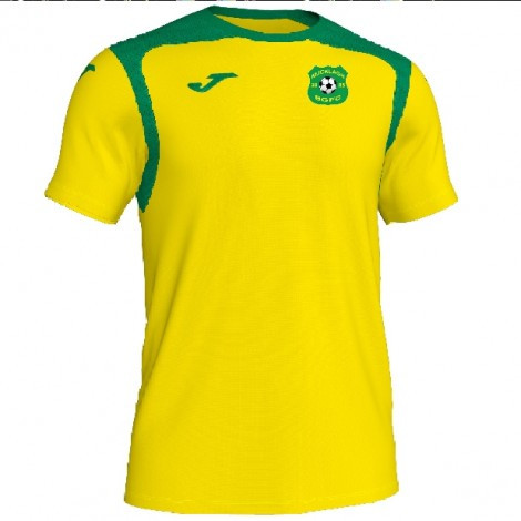 CONTRAST T- SHIRT YELLOWS/GREEN WITH MUCKLAGH FC CREST
