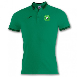BALI POLO SHIRT GREEN S/S WITH MUCKLAGH FC CREST