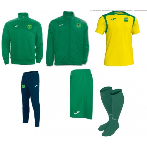 MUCKLAGH FC PACK 1 - 1/4 Zip, Rainjacket, Contrast T-Shirt, Pants, Shorts, Socks