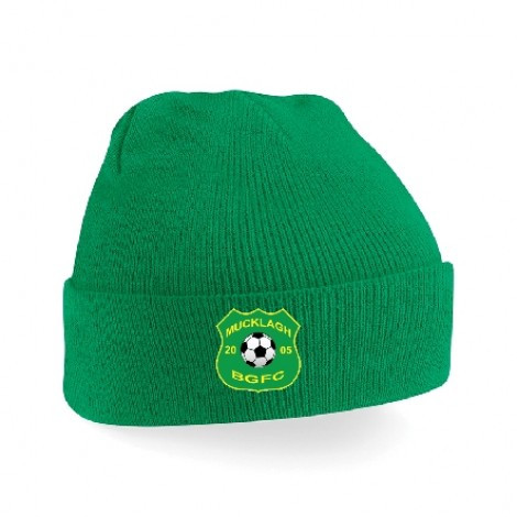 CRESTED BEANIE GREEN