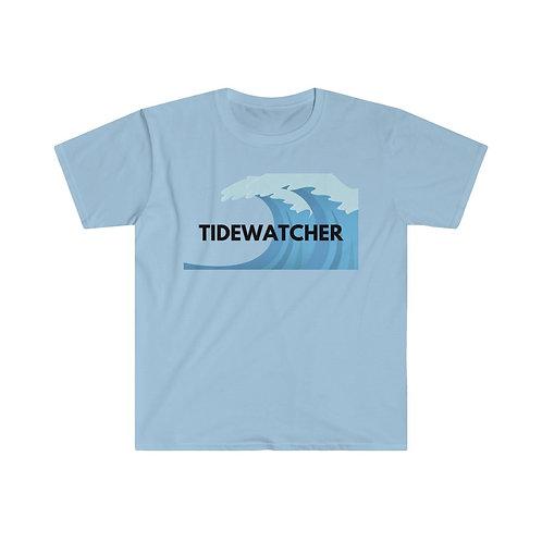 Tidewatcher -Beach Shirt, Summer Fun, Men's Fitted Short Sleeve Tee Men's Tshirt