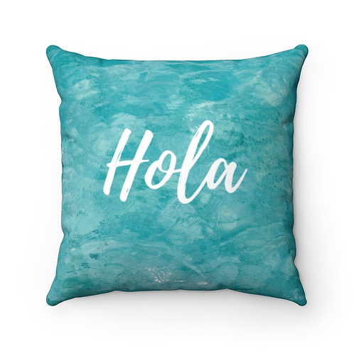Hola- Spun Polyester Square Pillow- Welcome your guests with festive pillows