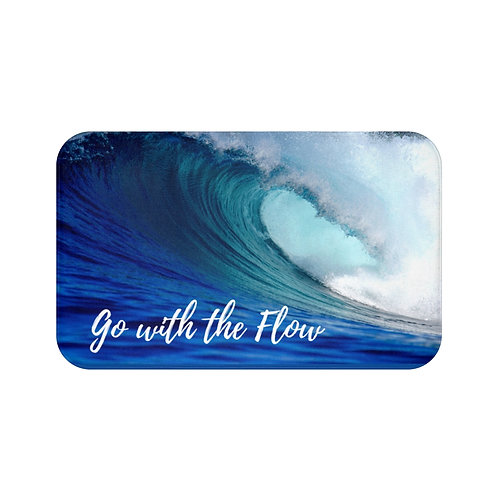 Go With The Flow Bath Mat | Wave | Funny Beach Mat |Bathroom Decor | Great gift