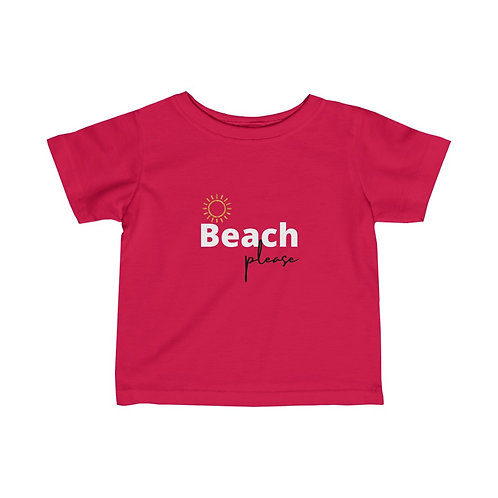 Beach Please- Infant Supersoft Jersey Tee 6m-24m cue baby gift, baby shower