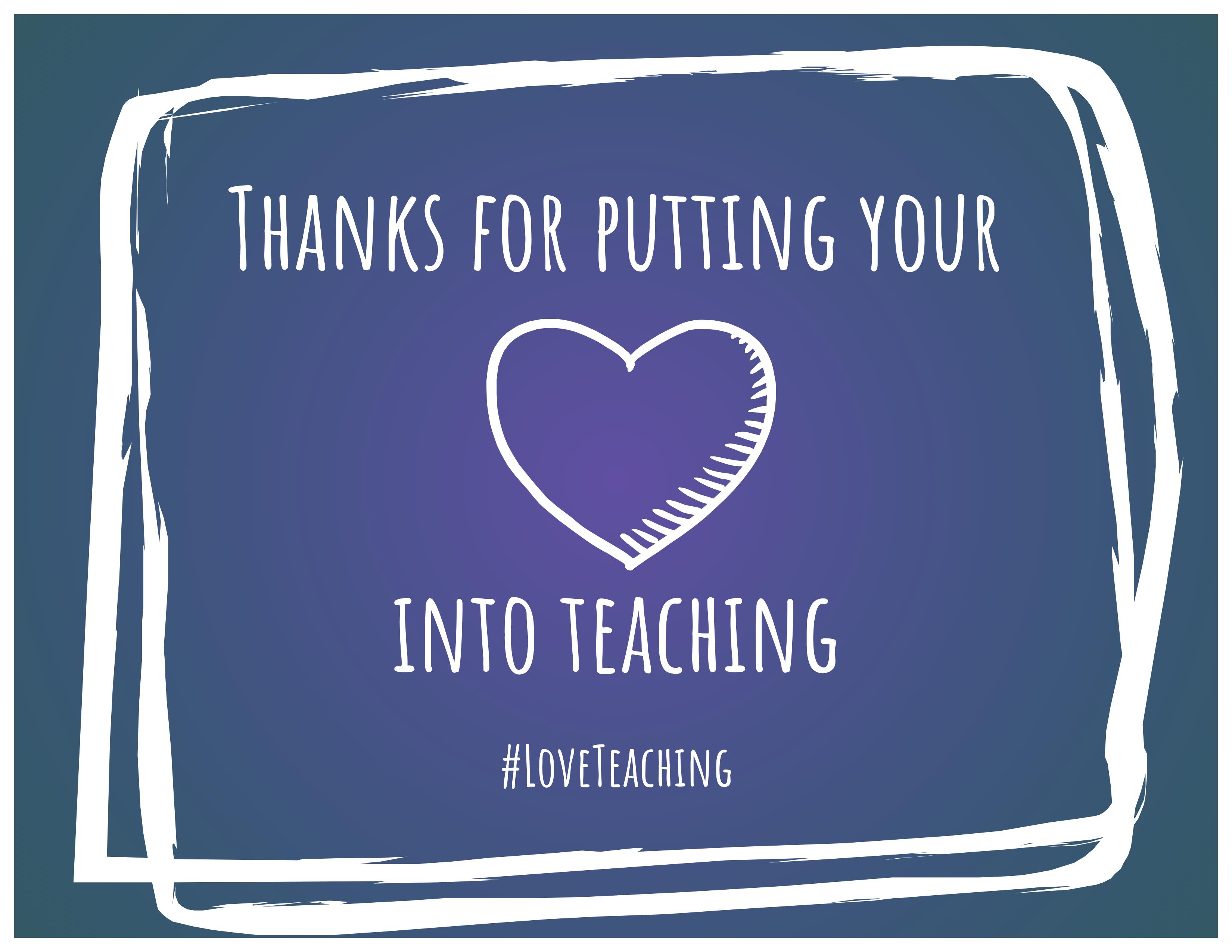 #LoveTeaching Gram_Heart