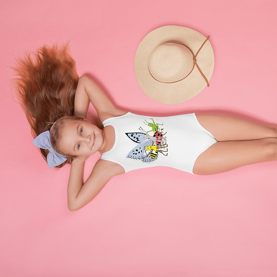 Meadow Series All-Over Print Kids Swimsuit