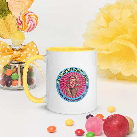 Me Myself and ADHD Mug with Colour Inside