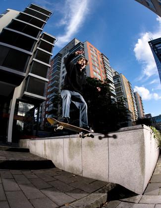 William Hall, frontside tailslide, Stockholm, Sweden