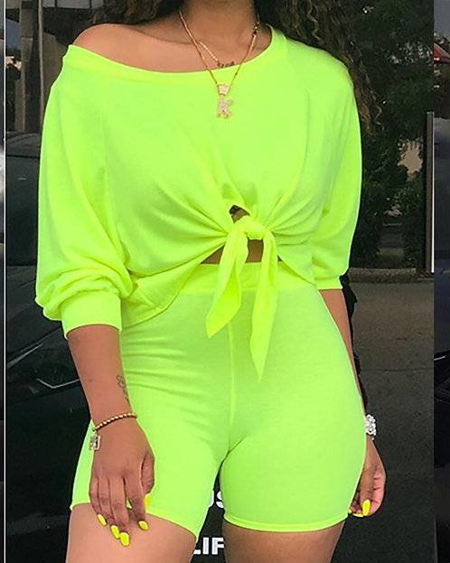 Lime Green Two Piece Set