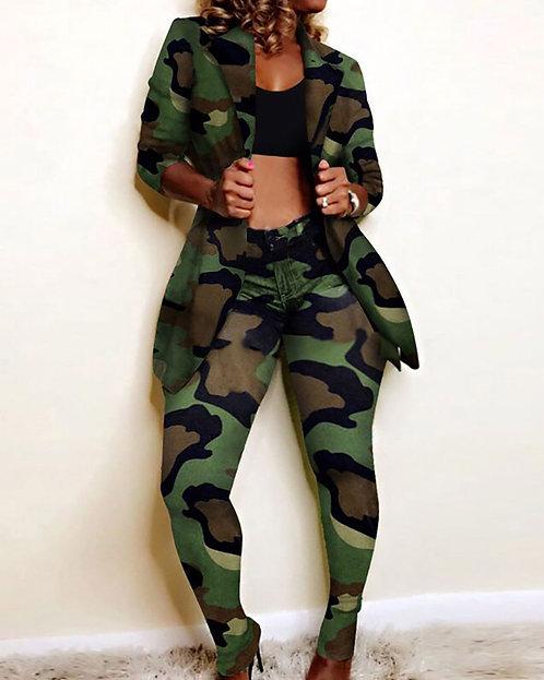 Army pants & jacket set