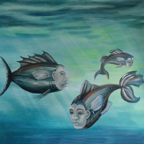 Fantasie met vissen