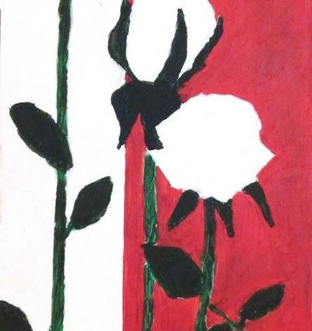 Witte rode bloemen