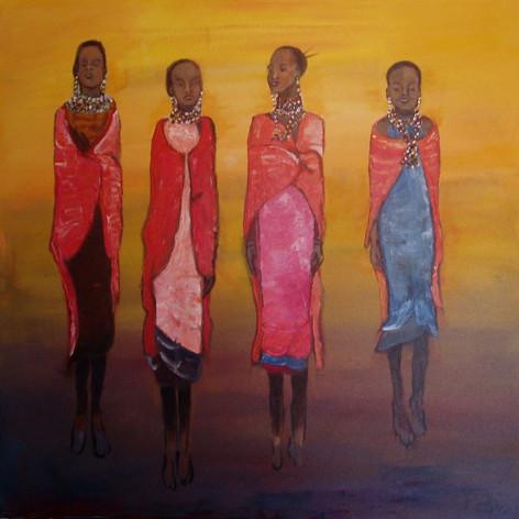 Dansende Masai vrouwen