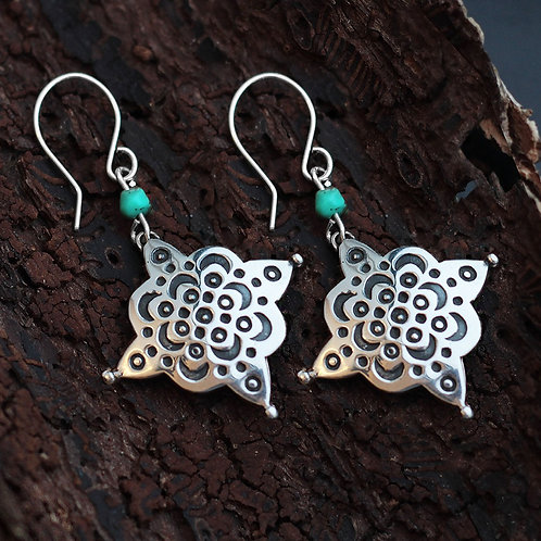 Arabesque Earrings with stone