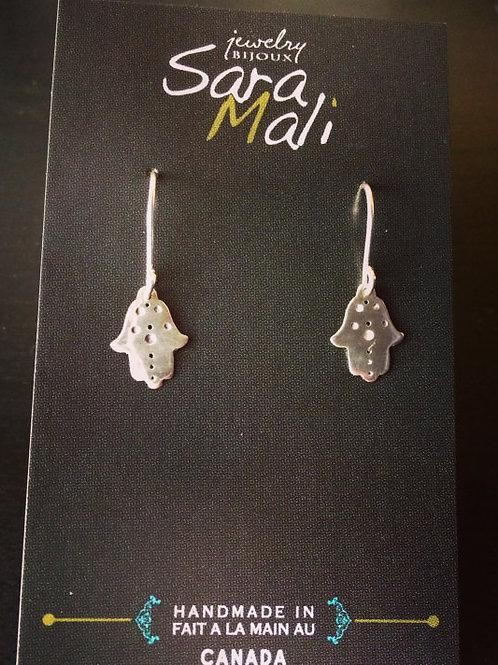 Mini Hamsa Earrings