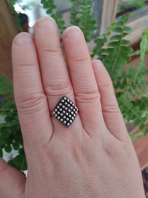 Lozange Silver Ring
